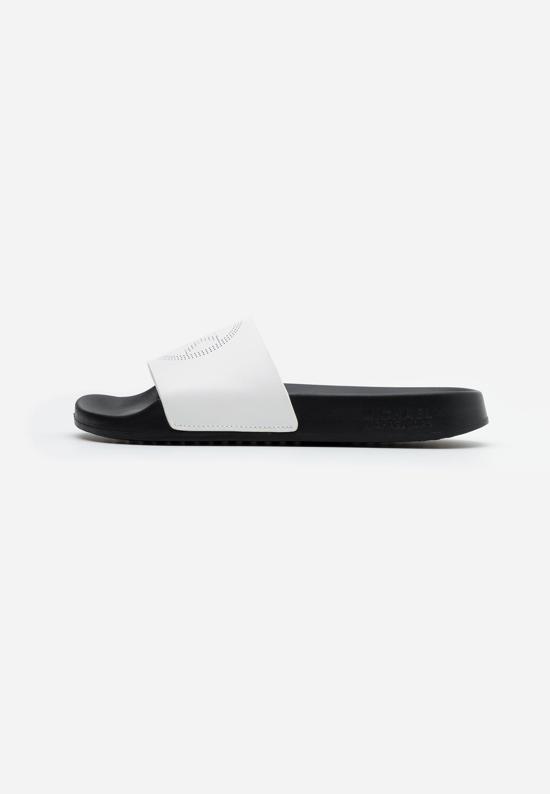 Michael Kors Gilmore Slide - Sandaler Optic White