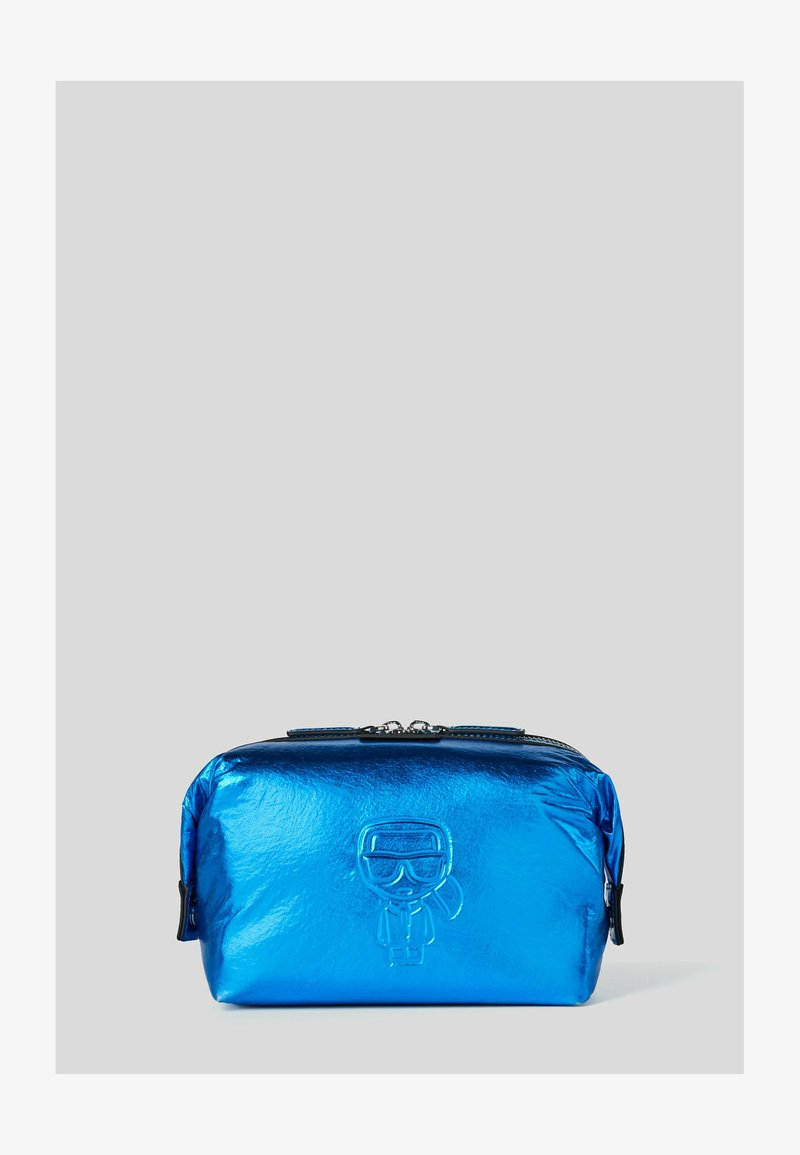 KARL LAGERFELD - WASHB METALLIC - Wash bag - a326 metallc bl