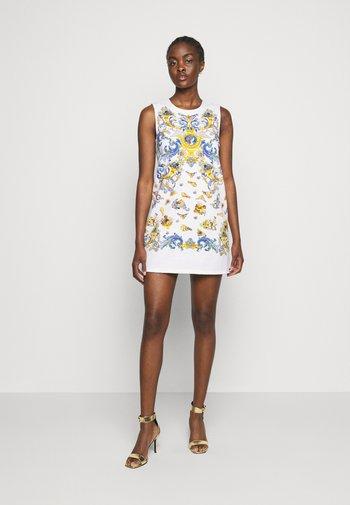 LADY DRESS - Denim dress - optical white/blue bell