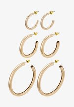 THICK HOOP 3 PACK - Pendientes - gold-coloured