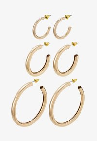 THICK HOOP 3 PACK - Náušnice - gold-coloured