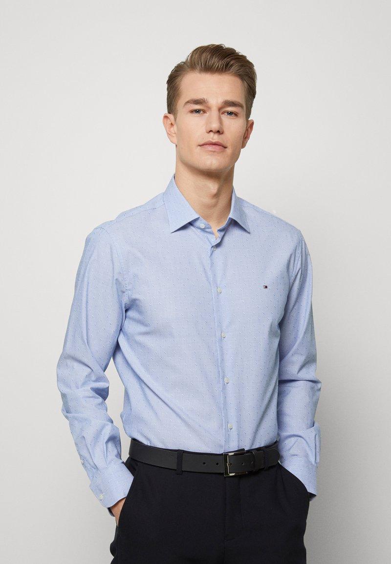 Tommy Hilfiger Tailored - DOBBY DESIGN CLASSIC - Kauluspaita - blue