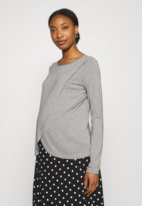 Missguided Maternity - NURSING LONG SLEEVE 2 PACK - Long sleeved top - black/grey marl - 3
