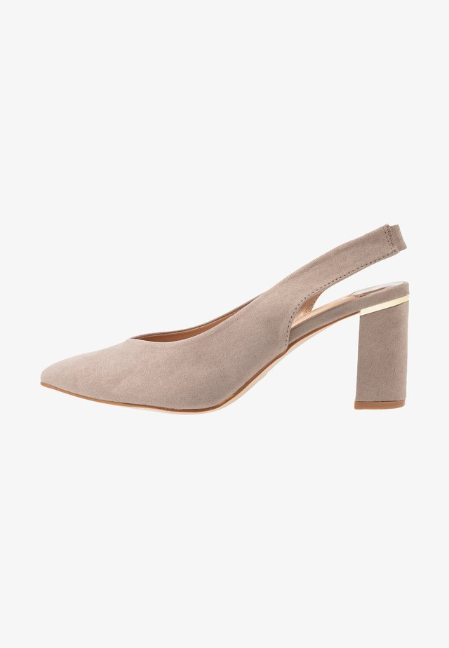 WIDE FIT EMILY SLING  - Classic heels - taupe