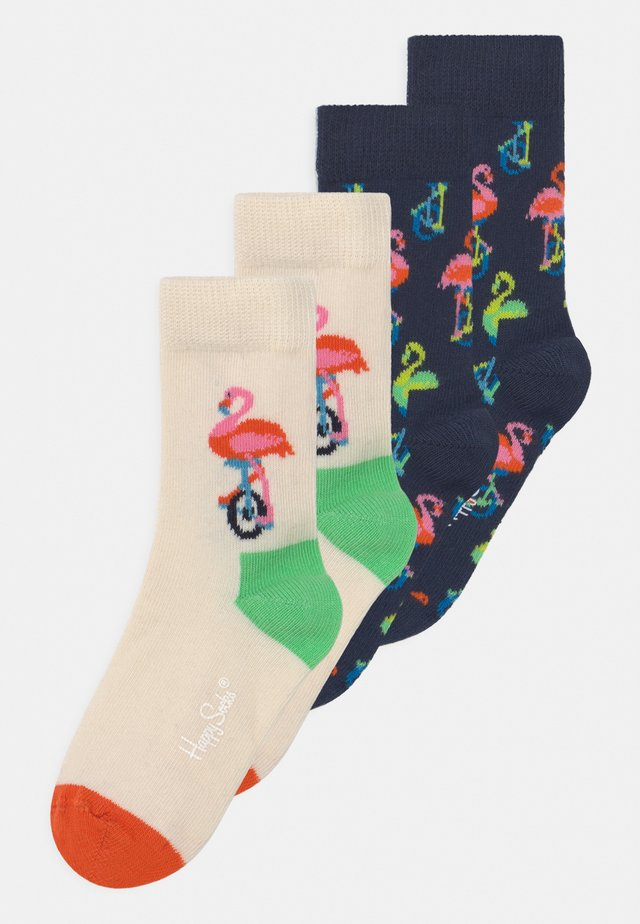 FLAMINGO 4 PACK UNISEX - Socks - multi-coloured