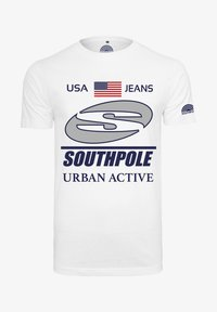 Southpole - SOUTHPOLE HERREN SOUTHPOLE URBAN ACTIVE TEE - T-shirt con stampa - white - 4