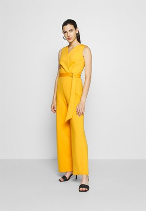 D RING WRAP - Jumpsuit - yellow