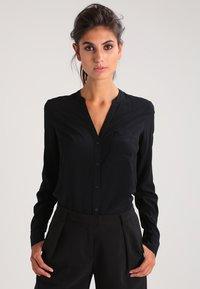 Zalando Essentials - Button-down blouse - black - 0