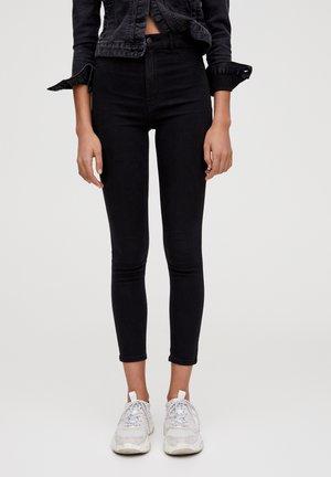 Skinny džíny - mottled black