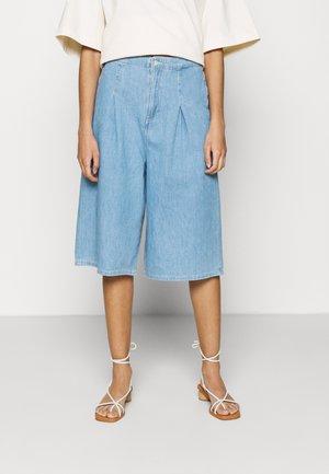 LEILA  - Denim shorts - pale blue