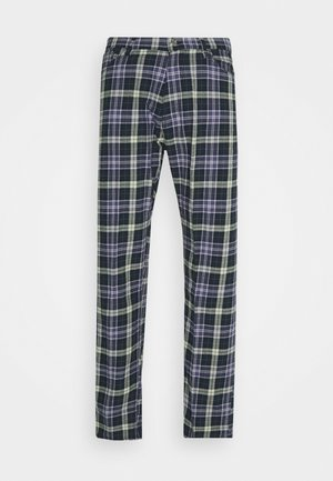 SPACE CHECKED TROUSERS - Trousers - dark green