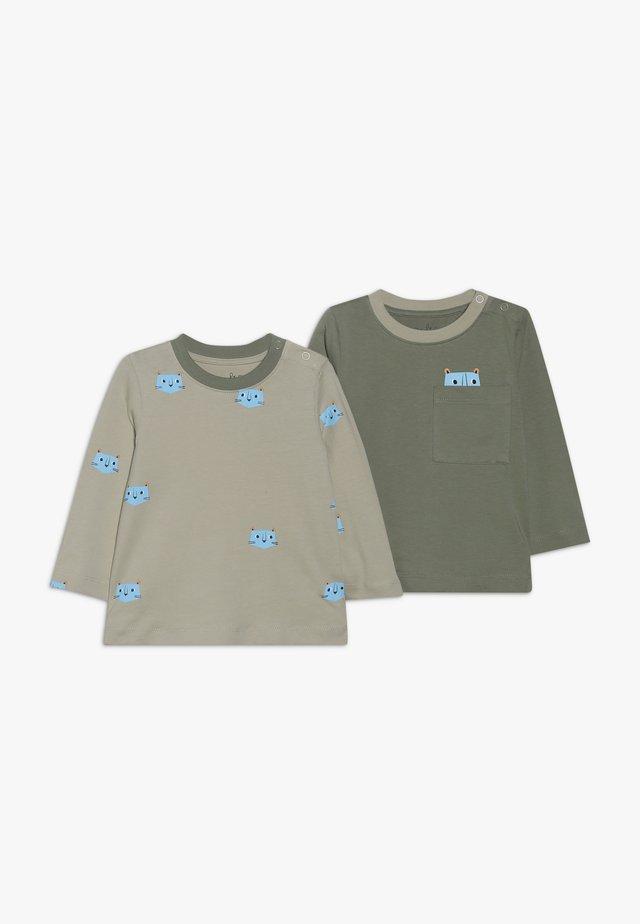 BABY 2 PACK  - T-shirt à manches longues - khaki/off white
