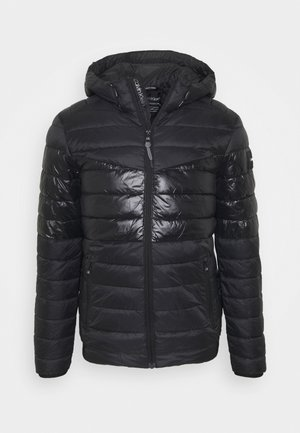 HOODED JACKET - Lehká bunda - black