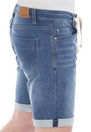 PAUL - Denim shorts - middle blue denim