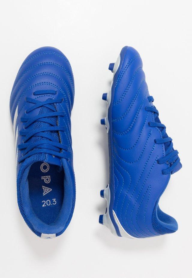 COPA 20.3 FG - Botas de fútbol con tacos - royal blue/silver metallic