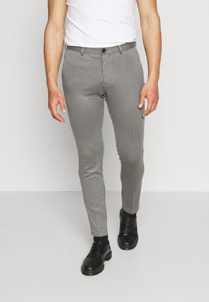 JJIMARCO JJPHIL NOR PIN - Bukser - grey melange