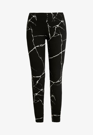 NMKERRY ANILLA   - Leggings - Trousers - black/white