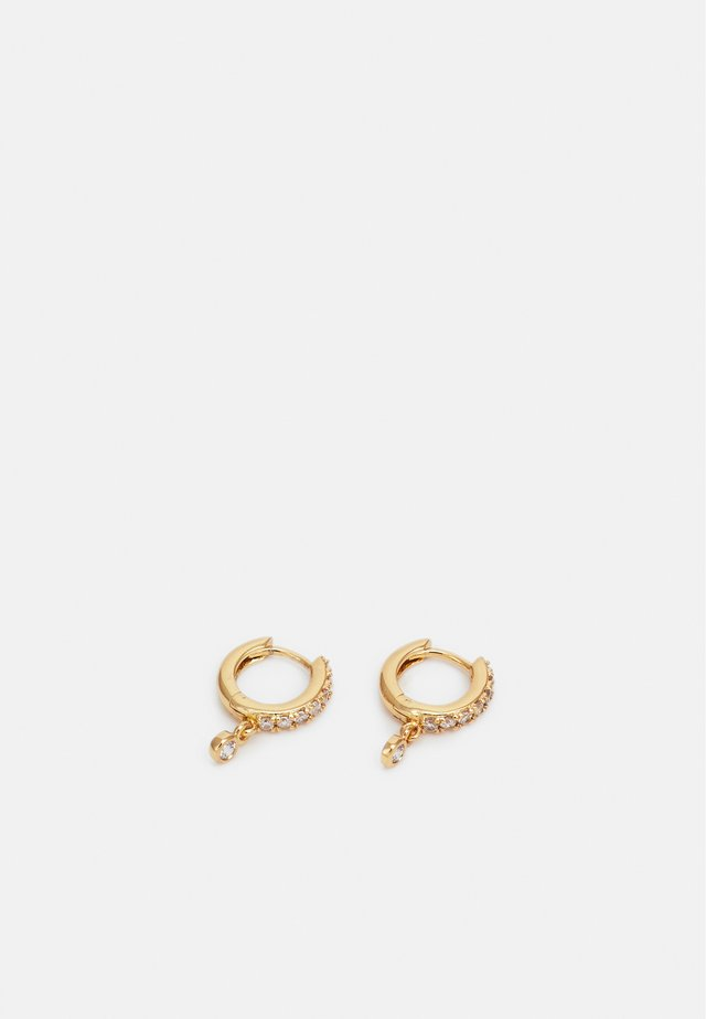 PAVE DROP HUGGIE HOOP - Boucles d'oreilles - gold-coloured
