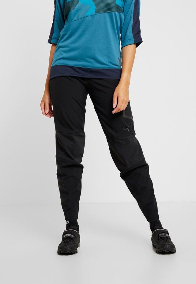 DEFEND FIRE PANT - Długie spodnie trekkingowe - black