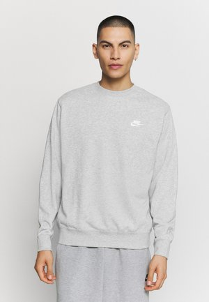 Collegepaita - dark grey heather/white