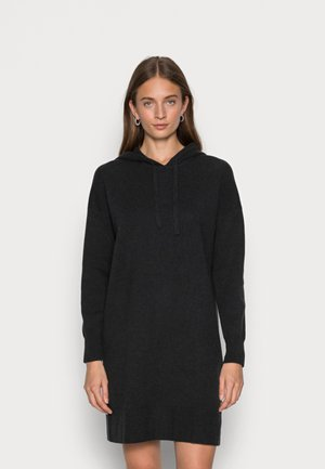 HOODIE SWEATER DRESS - Gebreide jurk - charcoal