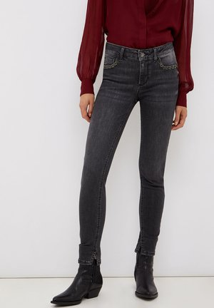 WITH GEMSTONES - Jeans Skinny Fit - grey denim