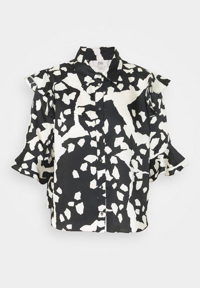 Overhemdblouse - black/white