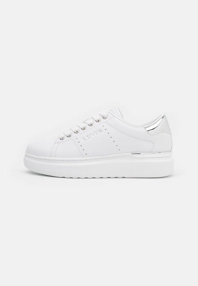 ELLIS MAX  - Sneakers basse - white/metallic silver