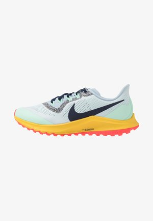 AIR ZOOM PEGASUS 36 TRAIL - Trail running shoes - aura/blackened blue/light armory blue/mint foam/speed yellow/laser crimson