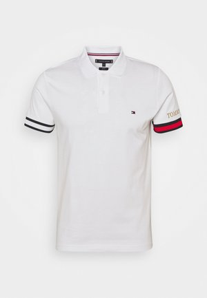 FLAG CUFF SLIM - Polo shirt - white