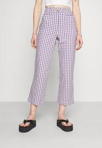 Monki - MINA TROUSERS - Trousers - lilac - 0