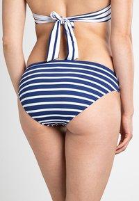 Lauren Ralph Lauren - STRIPE MIX RING FRONT HIPSTER - Bikini bottoms - blue - 1