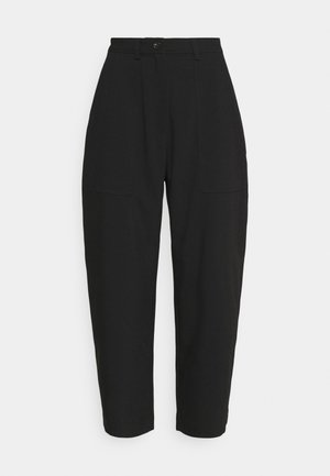JINA TROUSER - Trousers - black dark