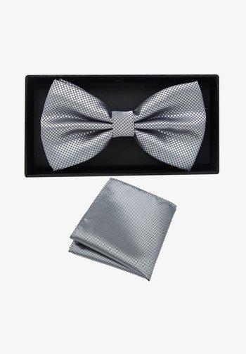 2 PIECE SET - Pocket square - grau