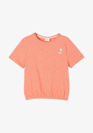 Print T-shirt - light orange aop