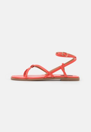ONLMIA STRAP TOE SPLIT  - T-bar sandals - coral