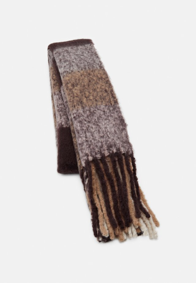 VMSAURA LONG SCARF  - Halsduk - chocolate/plum