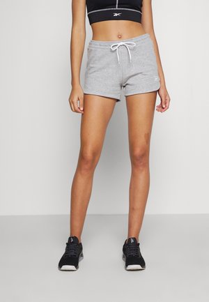 FRENCH TERRY SHORT - Pantalón corto de deporte - medium grey heather/white
