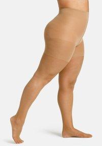 camano - FEINSTRUMPFHOSE WOMEN CURVY 20 DEN MATT, 2 PACK - Tights - make up - 0