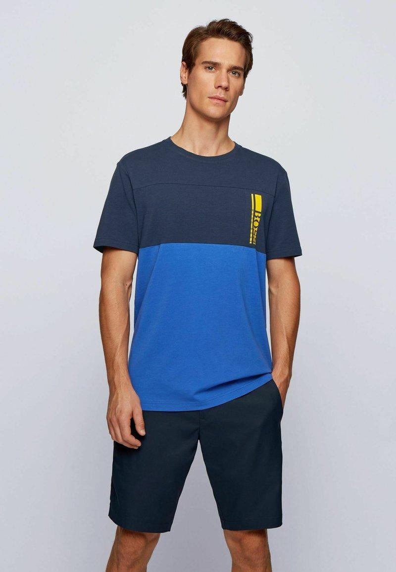 BOSS - TEE  - Print T-shirt - dark blue