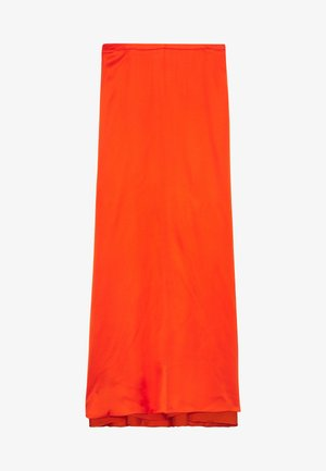 DRAPE - Maxi skirt - red orange