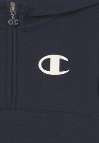 Champion - AMERICAN CLASSICS HOODED HALF ZIP UNISEX - Sweat à capuche - dark blue - 2