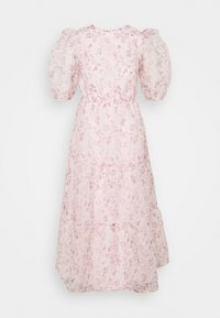 Missguided - FLORAL TIE BACK SMOCK DRESS - Cocktail dress / Party dress - pink - 4