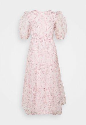 FLORAL TIE BACK SMOCK DRESS - Cocktailkjole - pink