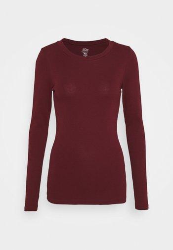 PERFECT FIT CREW - Camiseta de manga larga - vintage burgundy