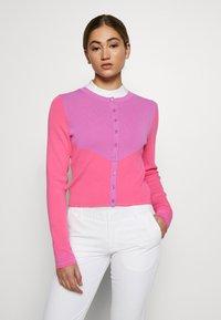 J.LINDEBERG - MELODY - Bluza rozpinana - pop pink - 0