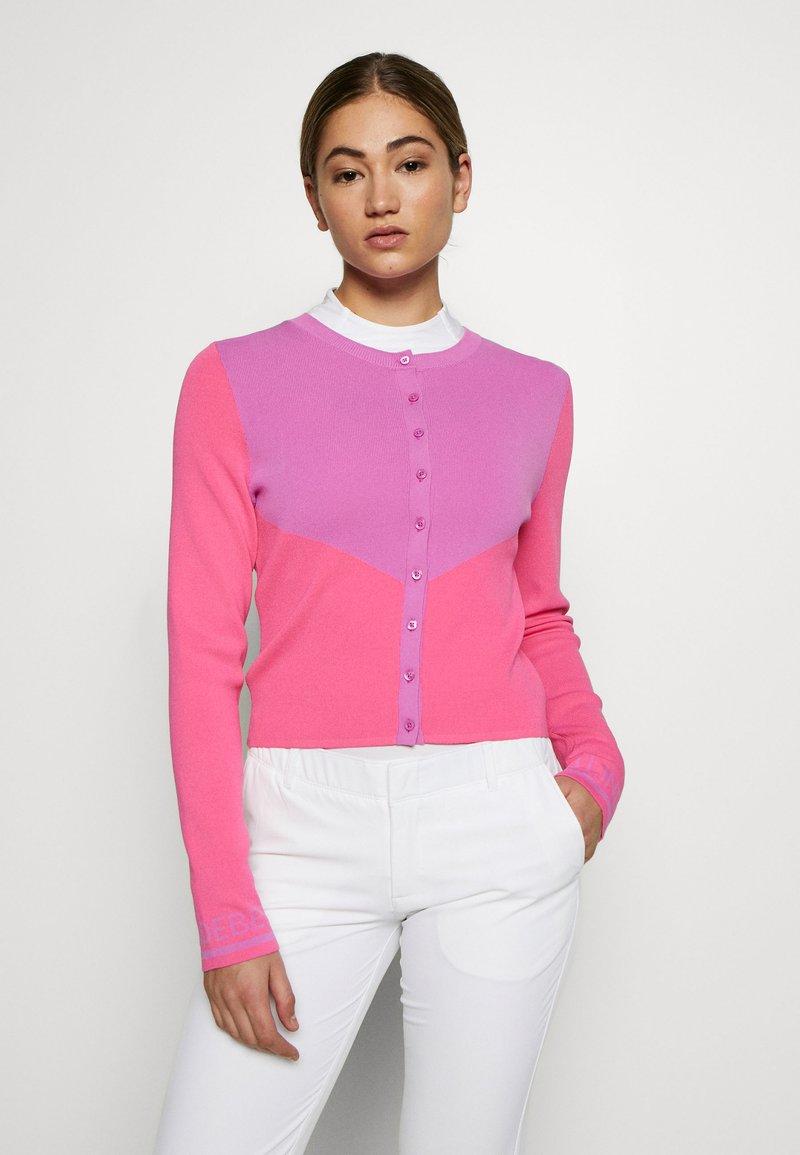 J.LINDEBERG - MELODY - Bluza rozpinana - pop pink