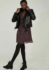 NAF NAF - CANDICE  - Leather jacket - black - 1