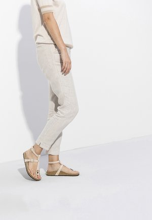 T-bar sandals - light rose rivets