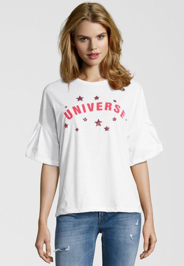 UNIVERSE - Print T-shirt - white